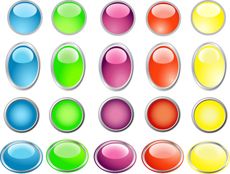Colored buttons Stock Vector - 4374284