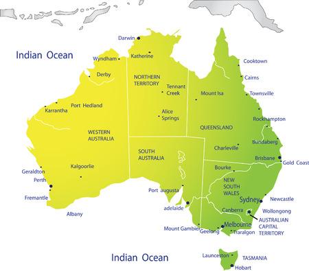 mapa politico: Mapa pol�tico de Australia