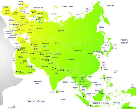 eurasia: Political map of Eurasia Illustration