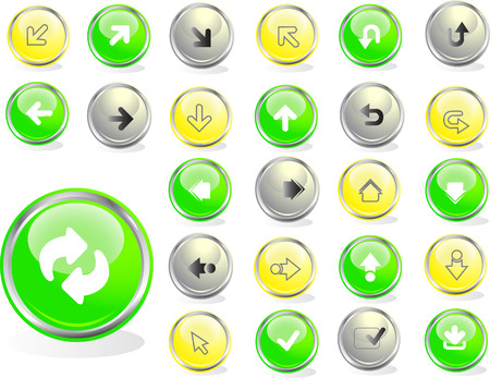 Colored web buttons Stock Vector - 4439286