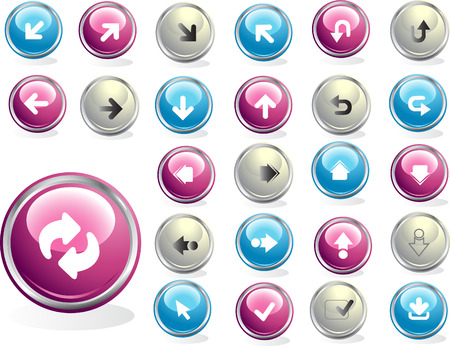 Colored web buttons Stock Vector - 4439285