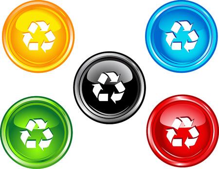 Recycle buttons Vector