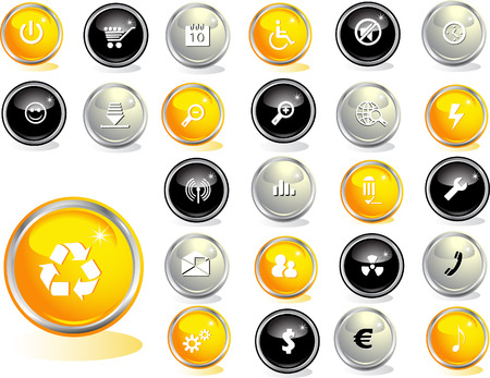 Colored web buttons Stock Vector - 4495298