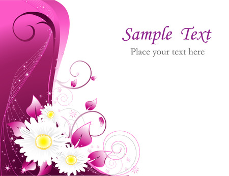 vector decoration: Floral background