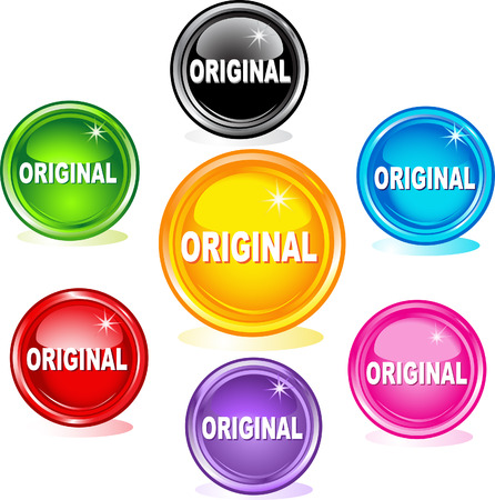 Original buttons Vector
