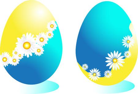 three colored: Easter eggs  Illustration