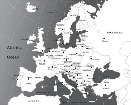 mapa politico: Mapa pol�tico de Europa