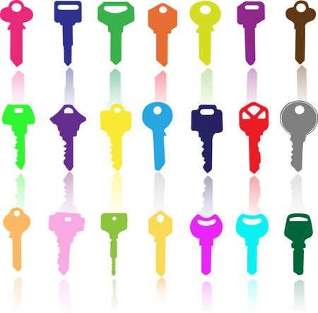 keys isolated: Clave de la ilustraci�n