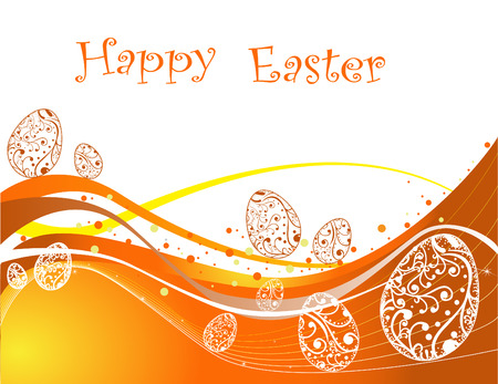three colored: Happy Easter background