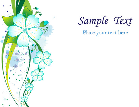 vector elements: Floral background