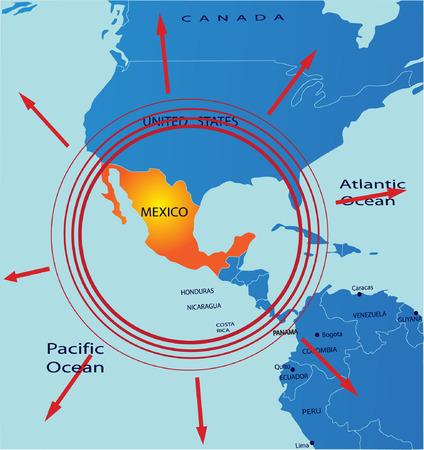 Political map of Mexico Stock Vector - 4800772