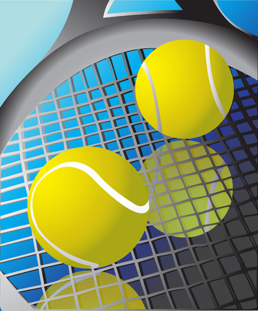 Tennis ball and racket  Illustration