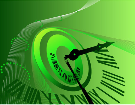 twenty four hours: Background with clock Illustration