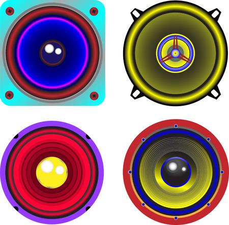 vector colored loudspeaker Stock Vector - 4965397