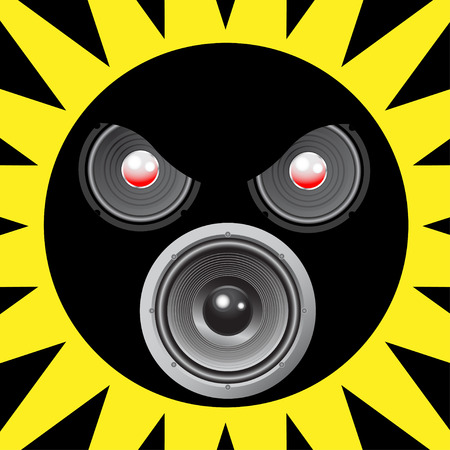 auditory: vector loudspeaker angry face