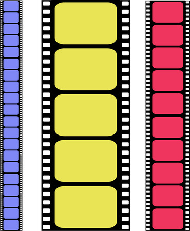 vector colored filmstrip Vector