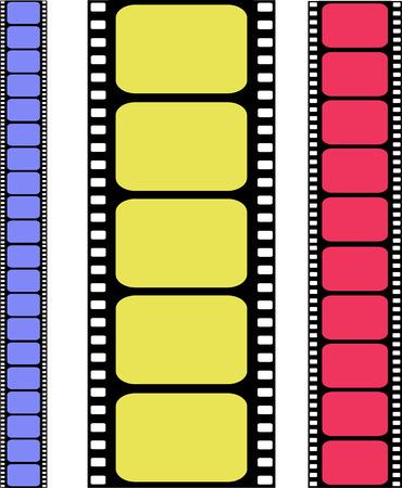 film projector: vector colored filmstrip