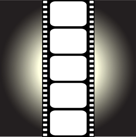 film projector: vector filmstrip