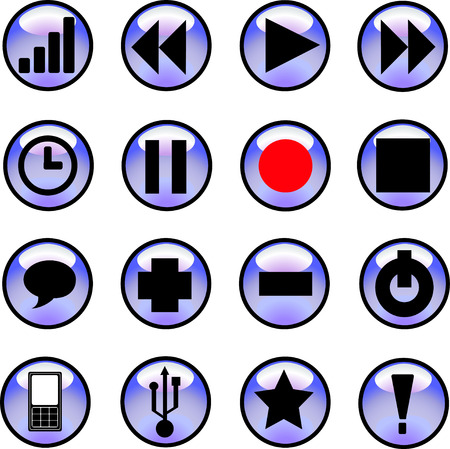 Set of buttons for web design. Vector Vector