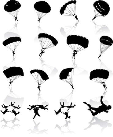 flying man: Skydiving Illustration