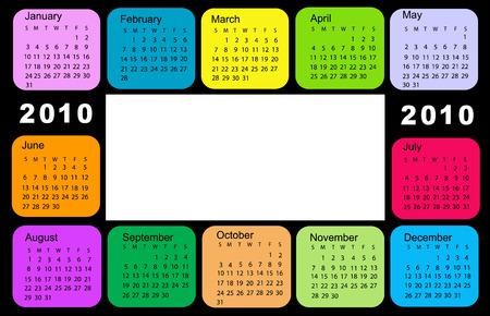 Calendar, 2010 Vector