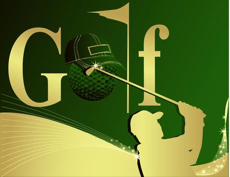 golfer swinging: Golf logo  Illustration