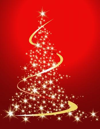 linee vettoriali: Albero di Natale