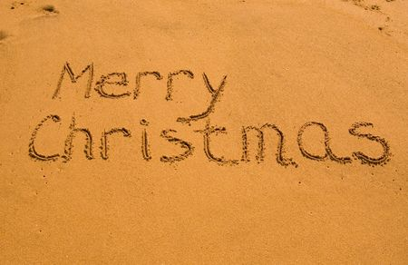 beach happy new year: Merry Christmas in the sand