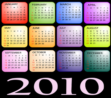 Calendar 2010 Vector