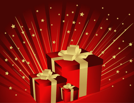 Gifts and stars Vector