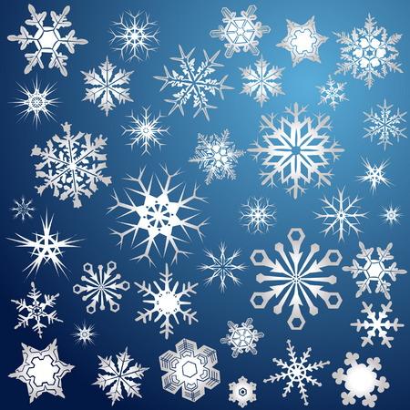 Silver snowflakes Vector