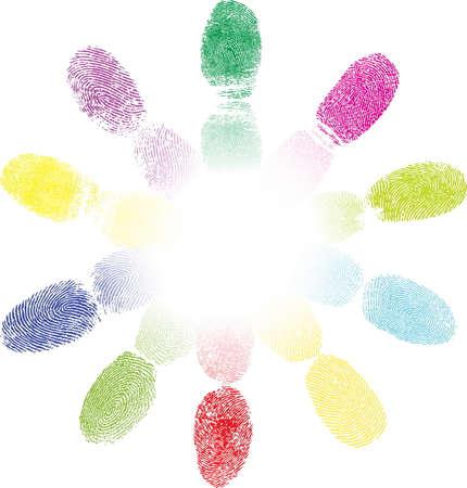 sensores: Color de huellas dactilares