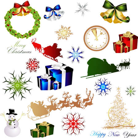 Merry Christmas illustrations Vector