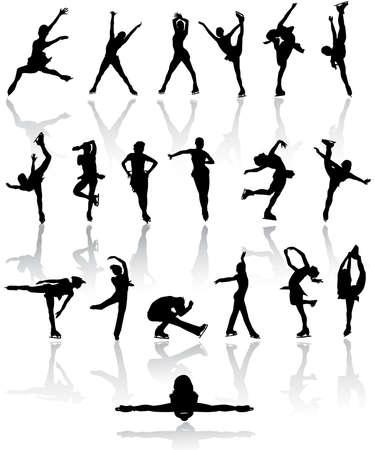 figure skating: Figure  skating silhouettes