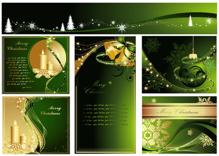 Merry Christmas collections Stock Vector - 5819044