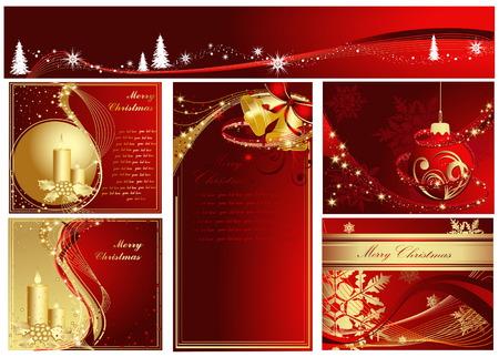 Merry Christmas collection Stock Vector - 5854851