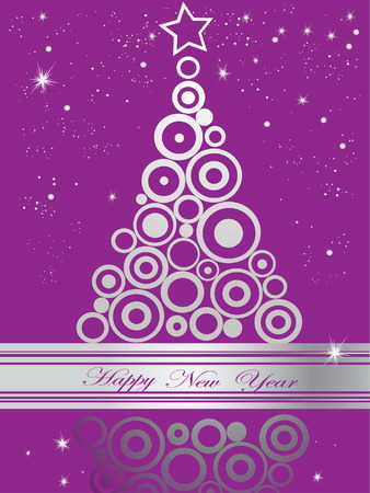 rings on a tree: Happy New Year Illustration