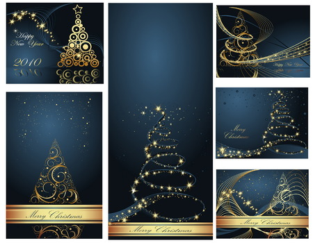 Merry Christmas and Happy New Year collection Stock Vector - 6120446