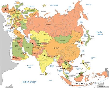 Carte politique de l'Eurasie