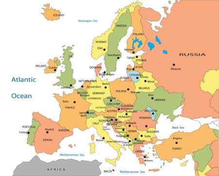 Cartina Europa.Vettoriale Mappa Politica Dell Europa Image 6120461