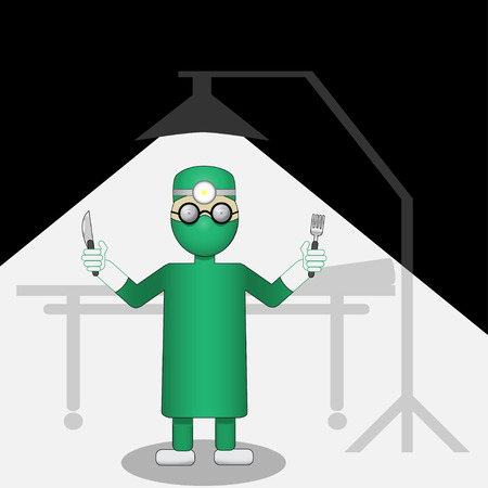Surgeon in a hospital  Vector