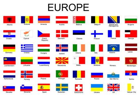 bandera francia: Lista de todas las banderas de los pa�ses europeos