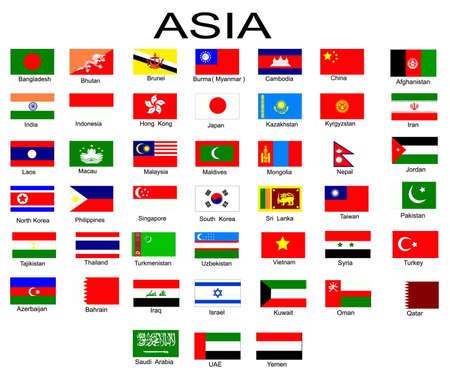 Bank Światowy: Lista wszystkich flag z krajów azjatyckich