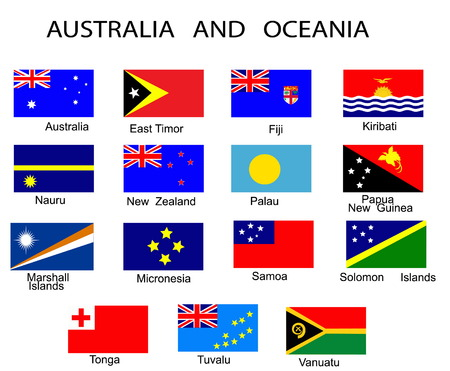 oceania: List of all flags of Australia and Oceania countries