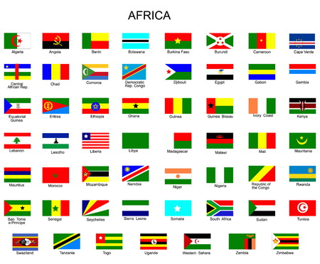 List of all flags of Africa  countries Vector