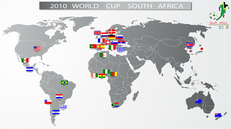bandera de paraguay: Sud�frica de cuarta Copa del mundo de 2010  Vectores