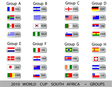 2010 World Cup South Africa balls - Groups Vector