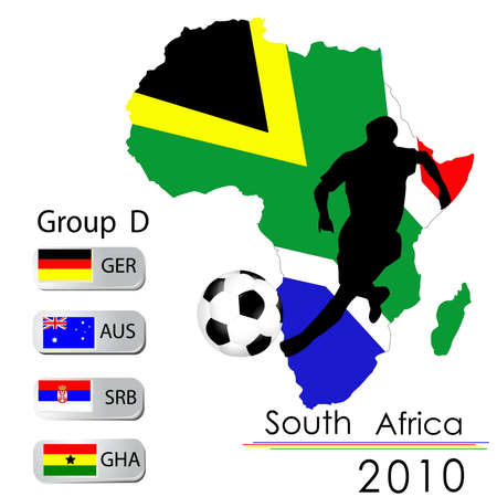 World Cup South Africa balls � Group D Vector