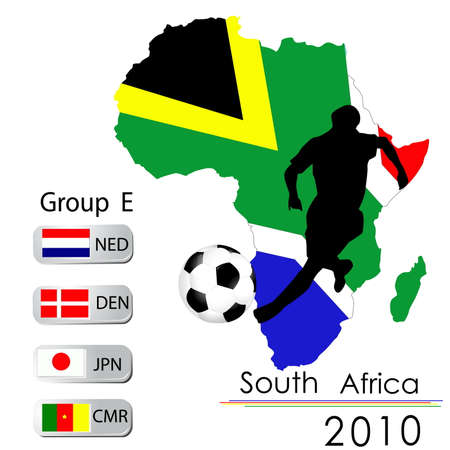 World Cup South Africa balls � Group E Vector