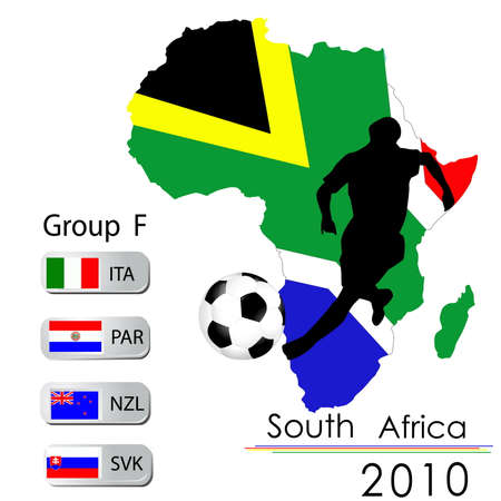 World Cup South Africa balls � Group F Vector